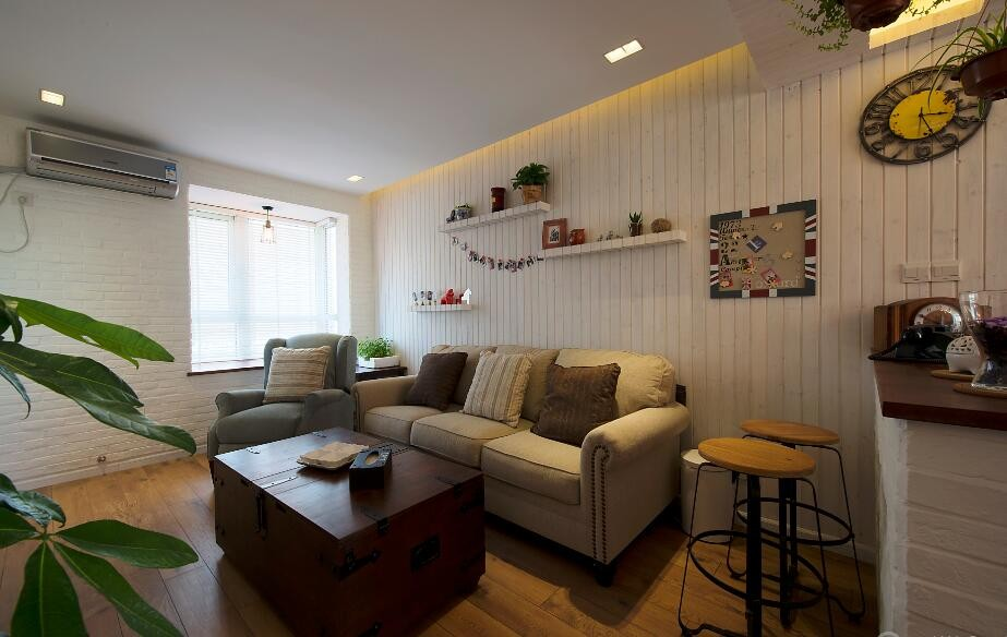 1室1卫2厅64平米美式风格