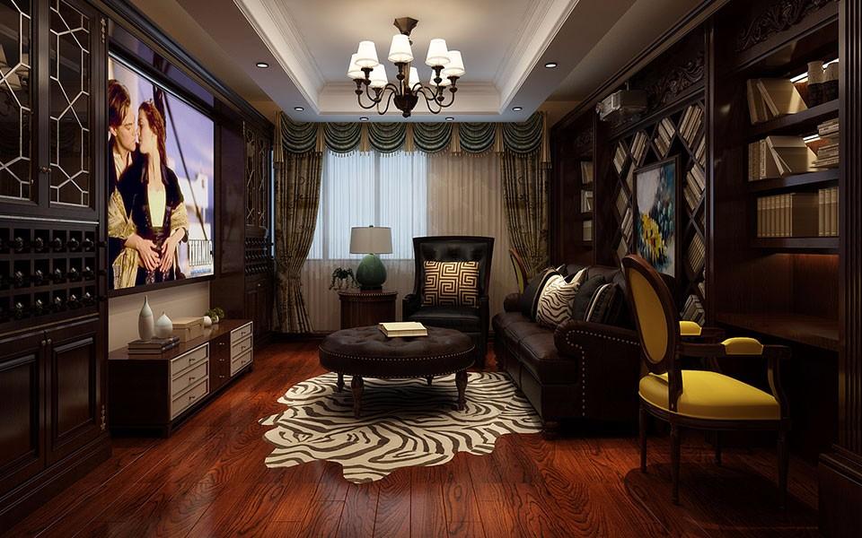 美式风格300平米别墅新房装修效果图