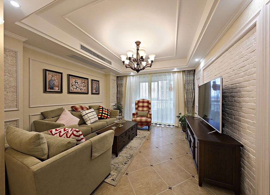 125方简美风格四居室装修效果图