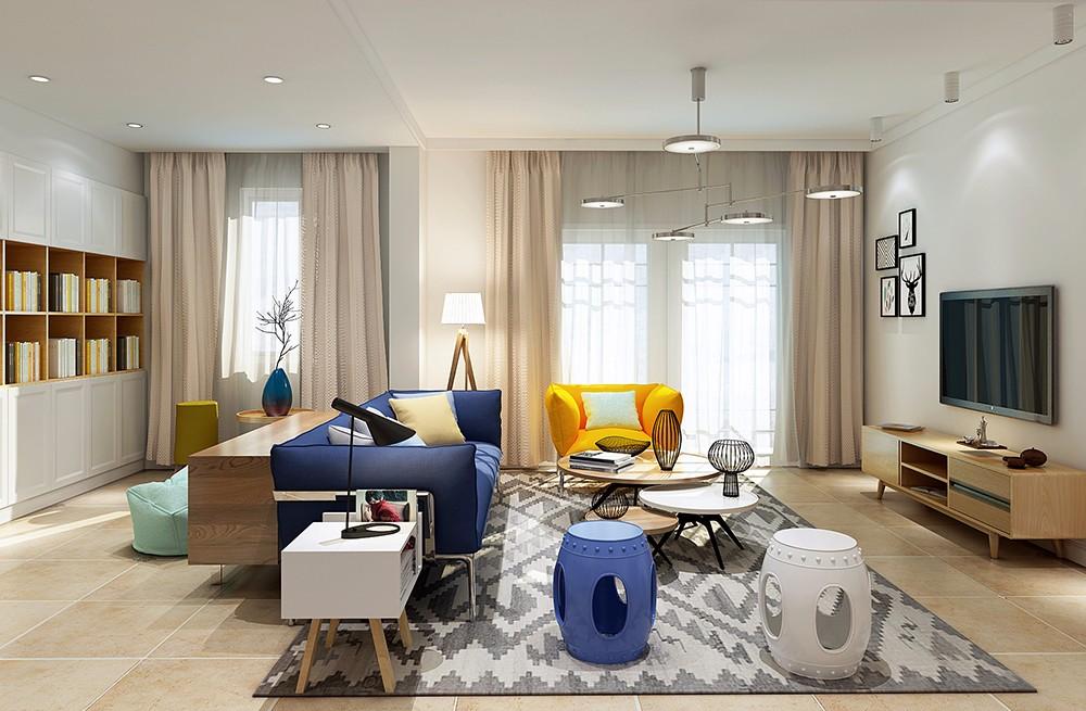 现代风格89平米两室两厅新房装修效果图