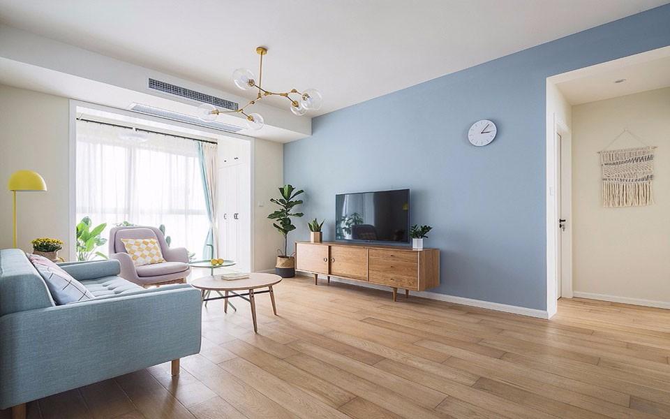 北欧风格85平米两室两厅新房装修效果图