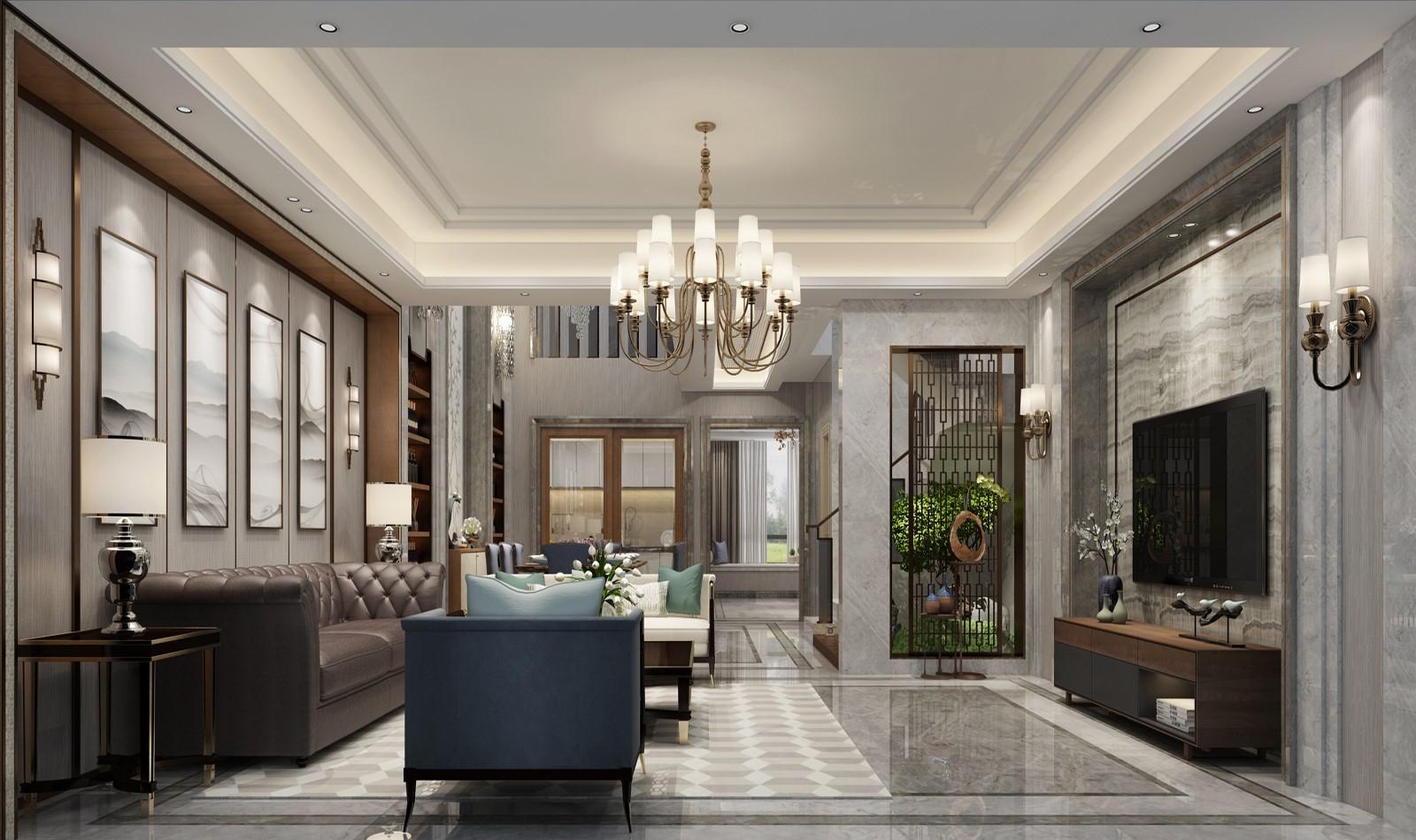 观澜御景500平方现代风格别墅装修效果图