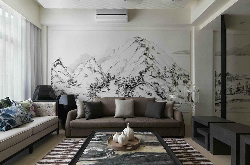 112平方中式风格三居室装修效果图