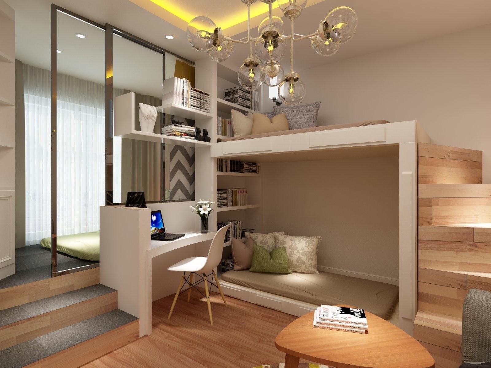 1室1卫1厅31.6平米现代风格