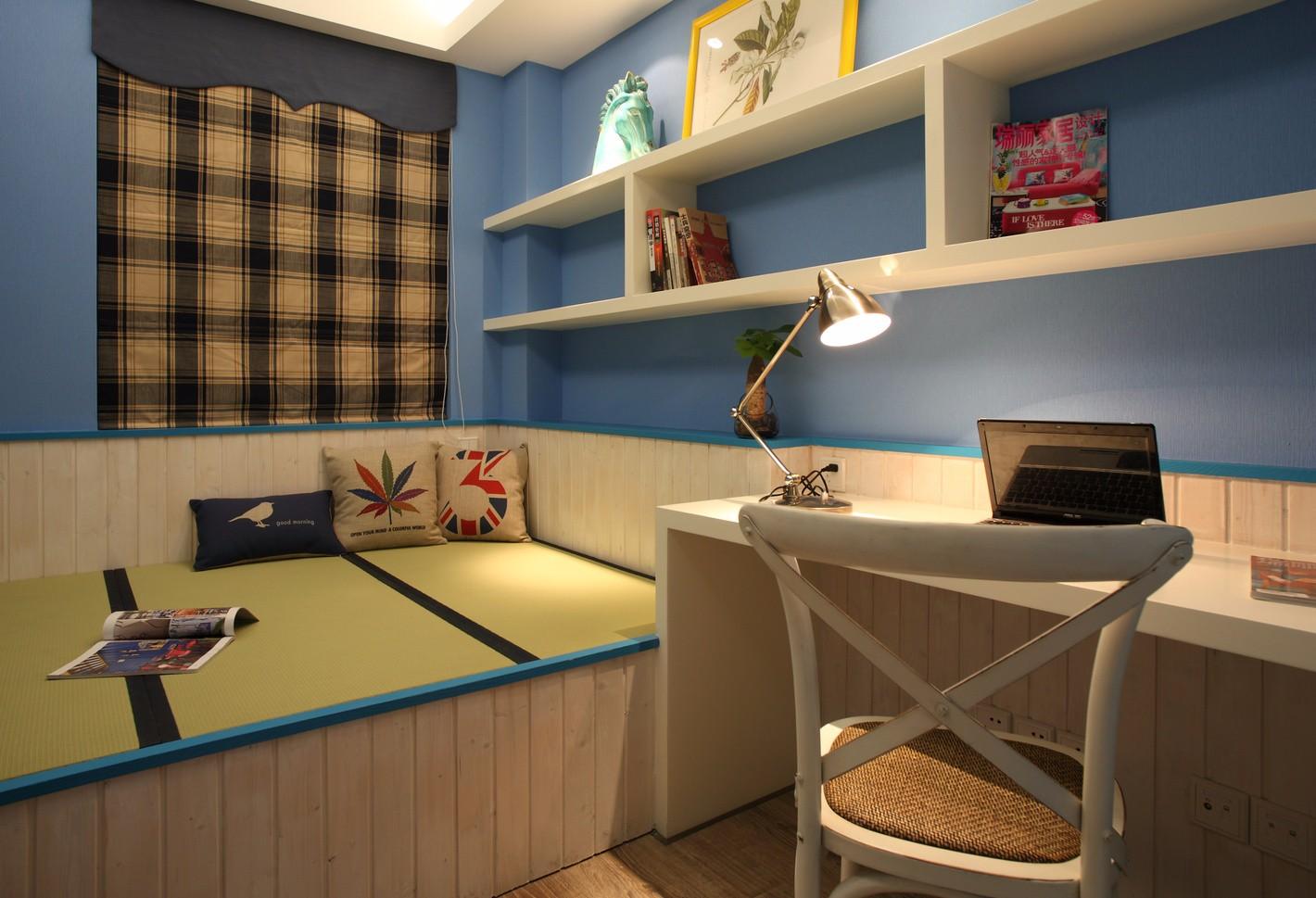 常州世贸香槟湖148平米美式风格三室两厅装修效果图