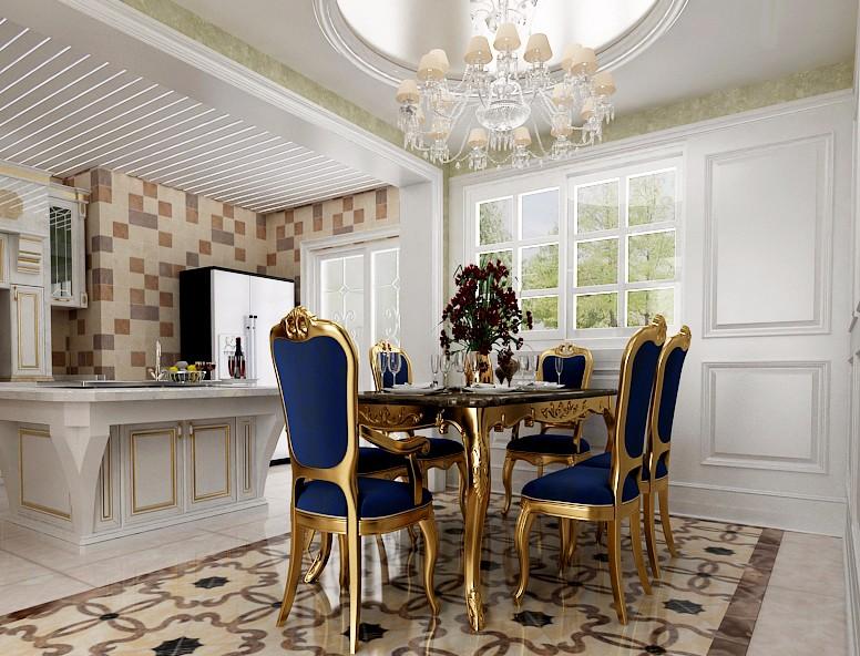 3室2卫2厅140平米新古典风格