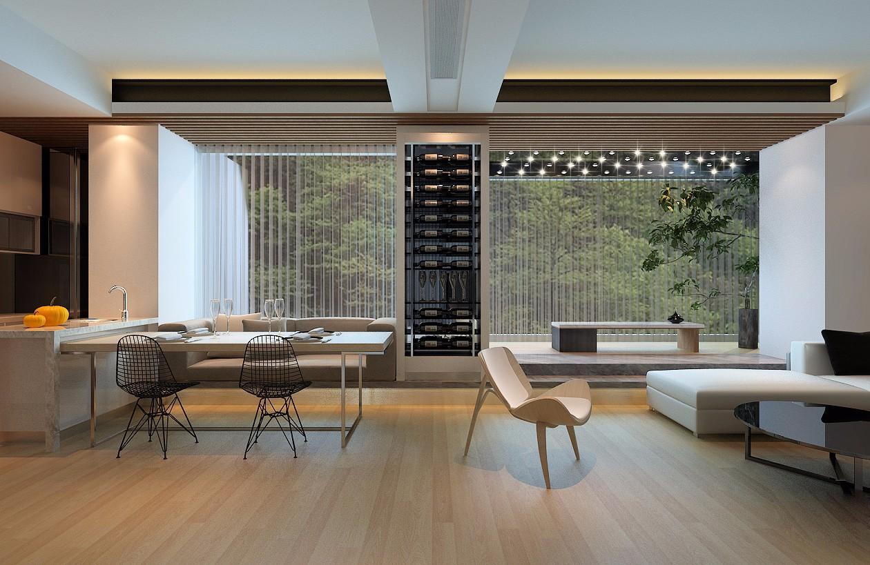常州宝龙二期138平米现代风格三室两厅装修效果图