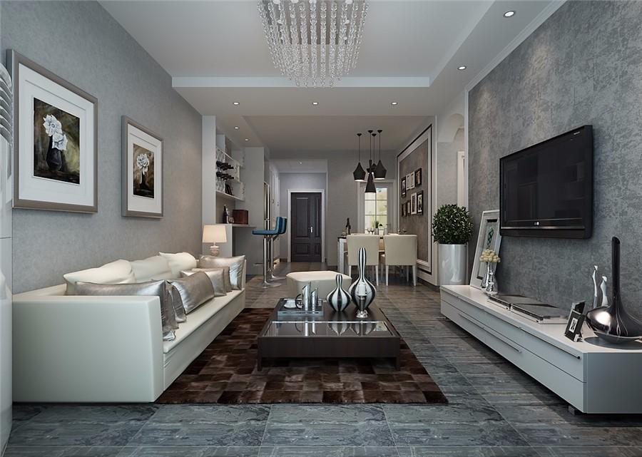 2室1卫2厅98平米现代风格