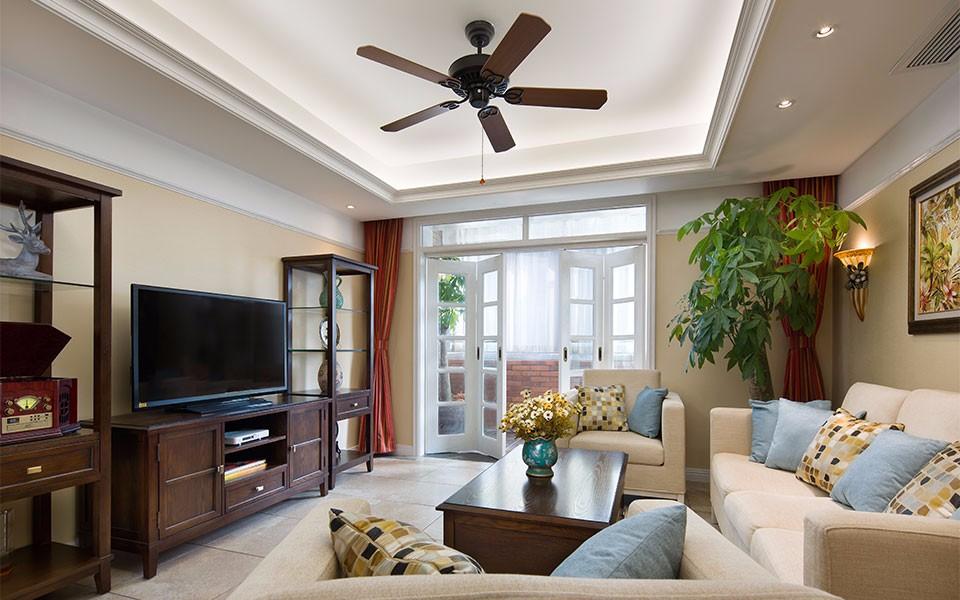 保利上城114平美式风格三居室装修效果图