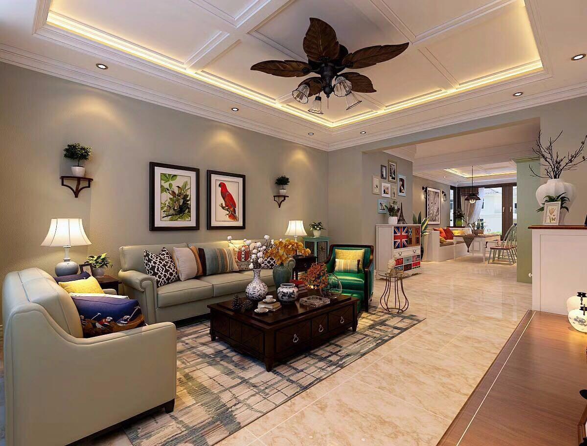 3室2卫2厅90平米美式风格