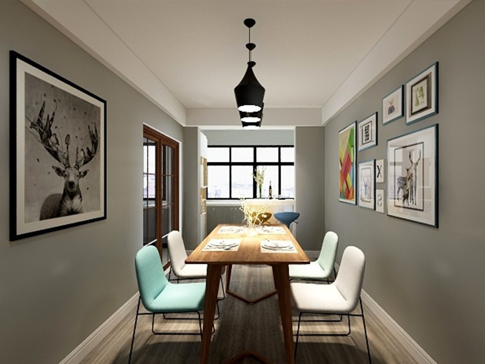 4室1卫2厅115平米简约风格
