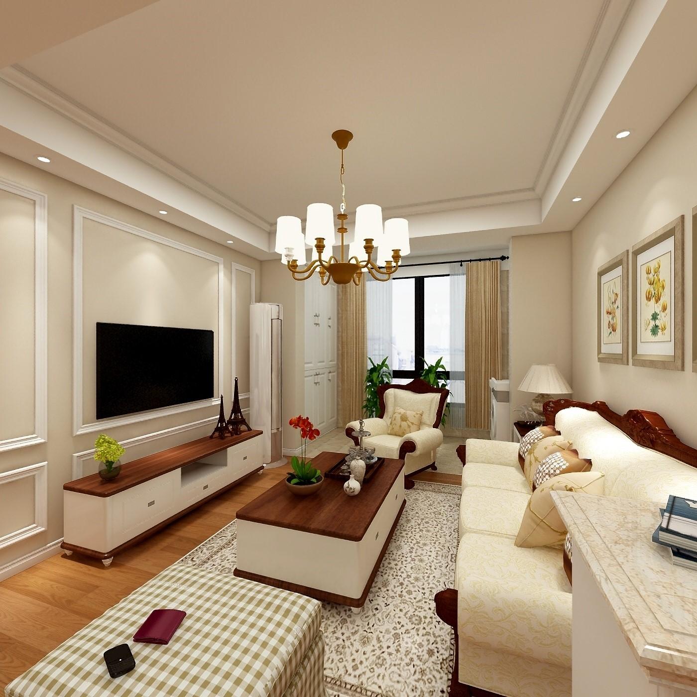 2室1卫2厅61.1平米混搭风格