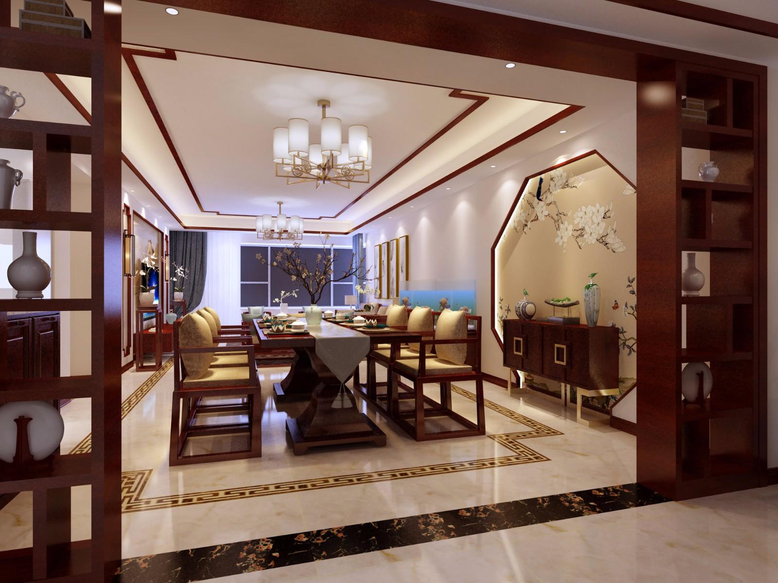 3室2卫1厅120平米新中式风格