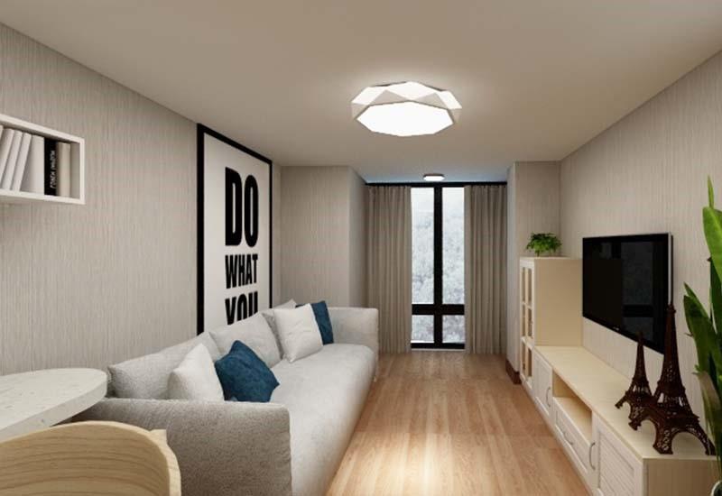 1室1卫2厅36平米简约风格