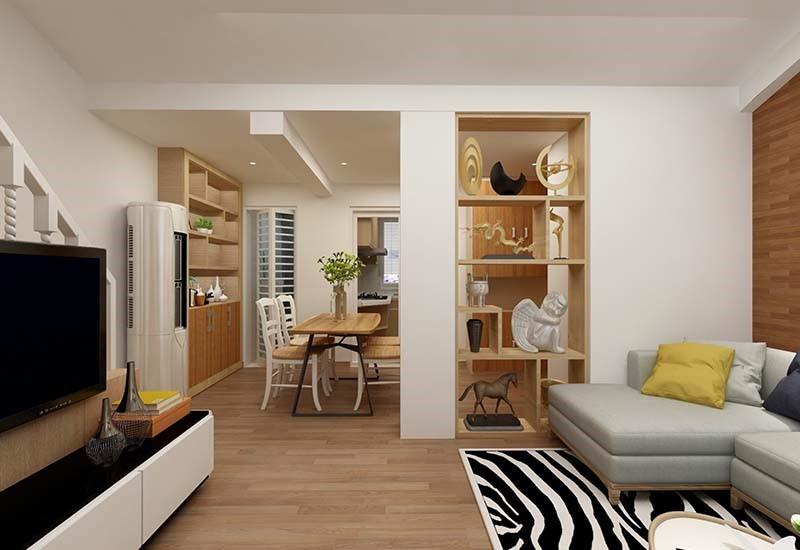 2室1卫2厅52.1平米简约风格