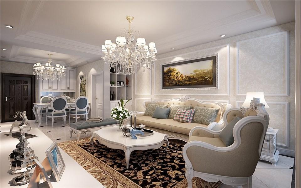 3室1卫2厅90平米简欧风格