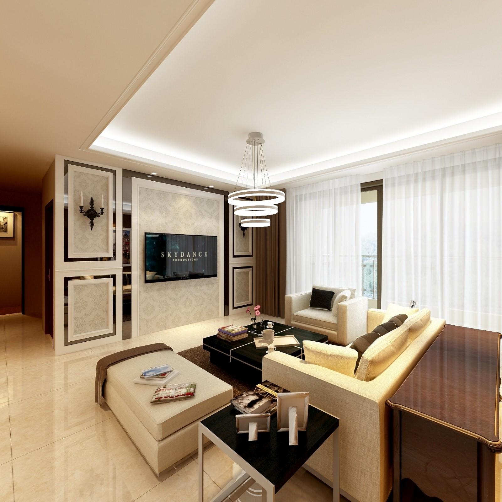 4室2卫2厅107平米简约风格
