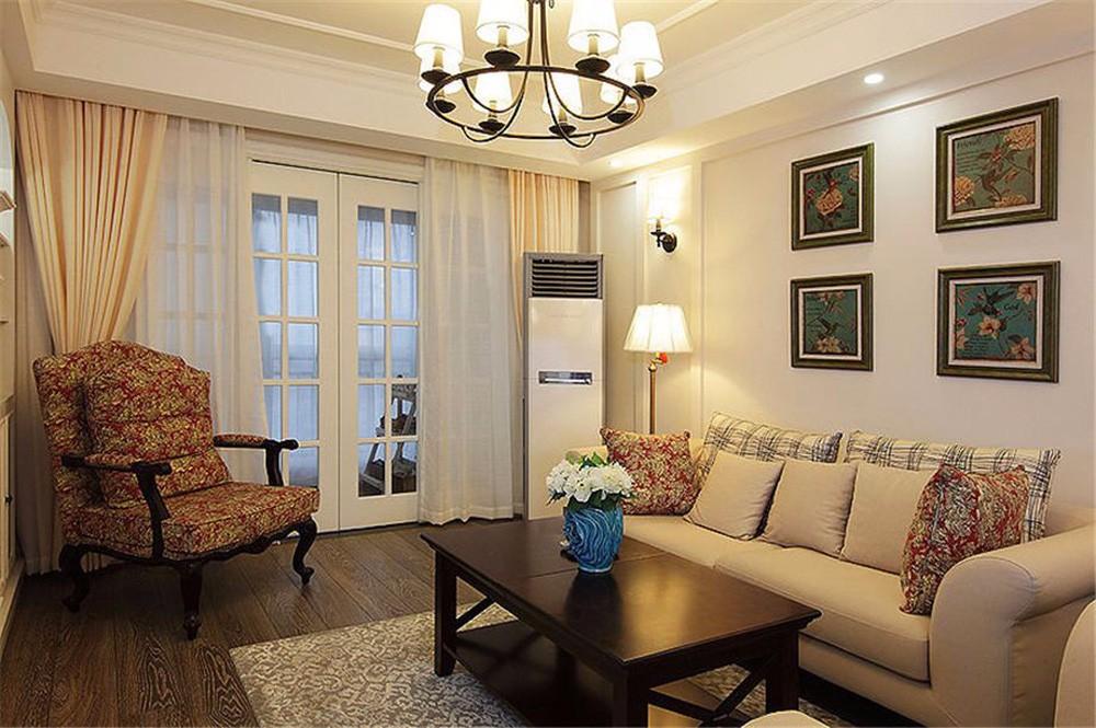 156方四居室现代美式风格效果图