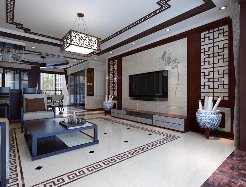 3室2卫1厅165平米中式风格