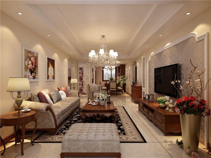 3室1卫1厅120平米欧式风格