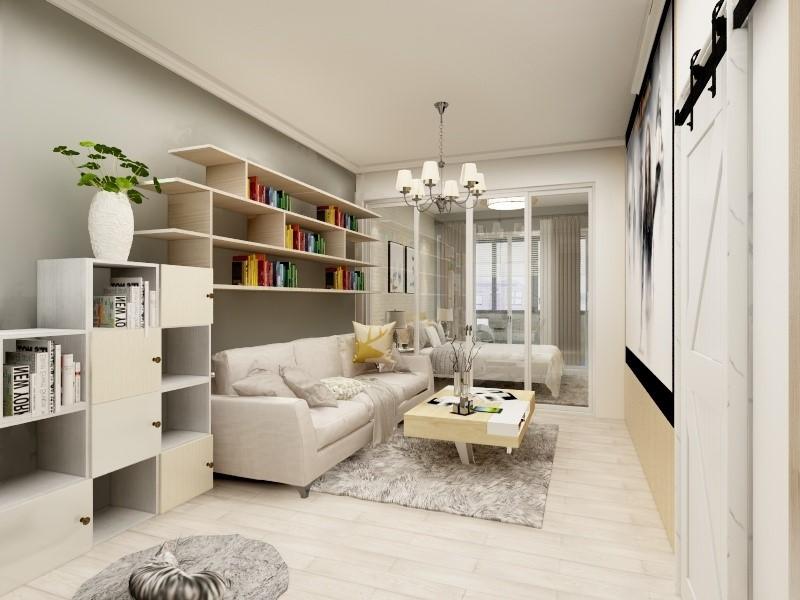 1室1卫1厅43平米简约风格