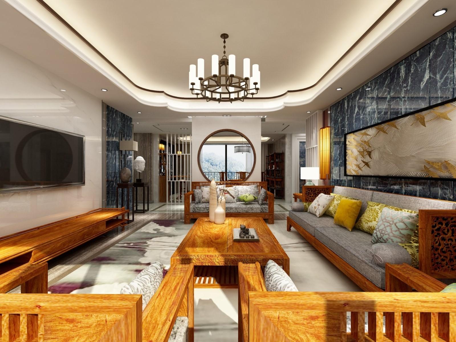 3室4卫1厅242平米中式风格