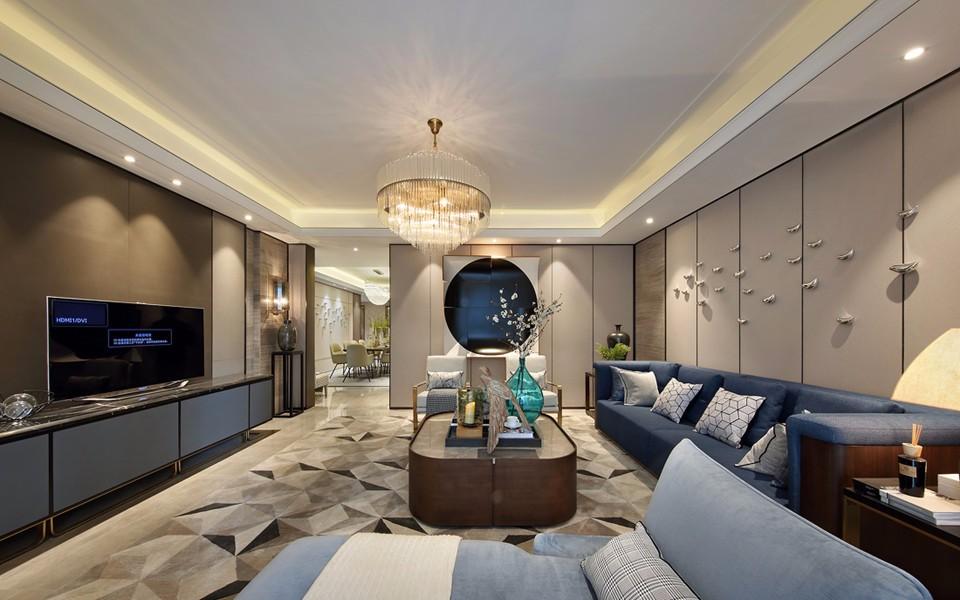 丹杨家园120平方混搭风格四居室装修效果图