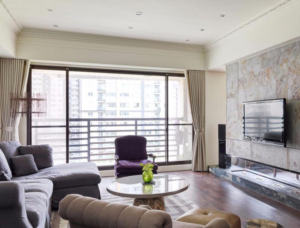欧美风格三居室117平米装修效果图