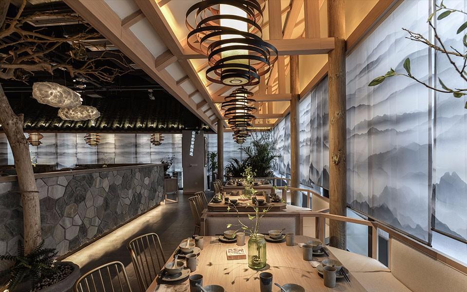 憶詩2400平新中式風格茶餐廳裝修效果圖