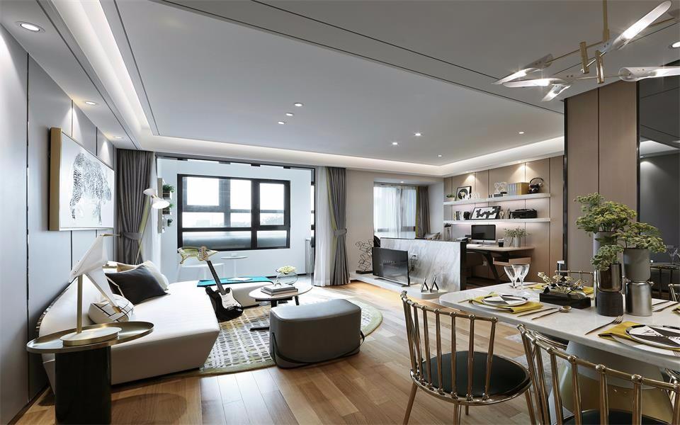 2室1卫2厅75平米现代简约风格