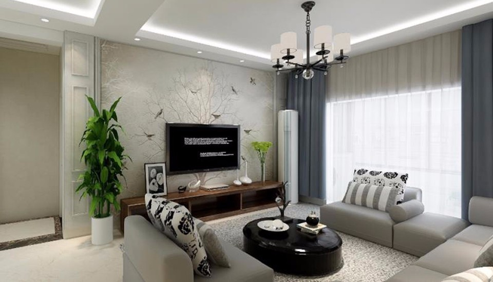 西安梧桐年华小区116平方现代简约风格三居室装修效果图
