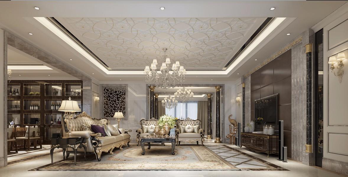欧式风格268平米大户型室内装修效果图
