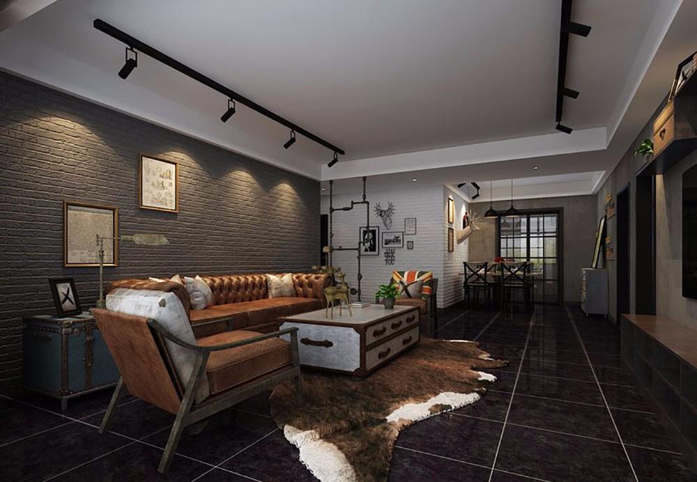 后现代风格188平米四室两厅新房装修效果图