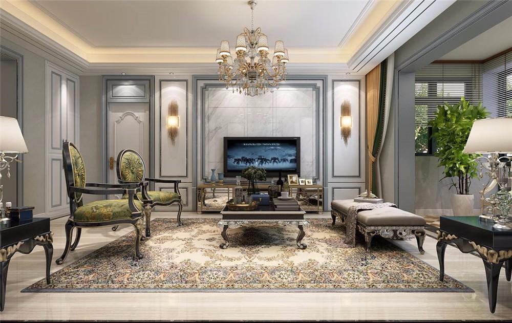 3室2卫2厅122平米欧式风格