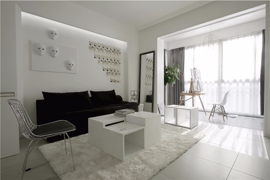 2室2卫2厅88平米现代风格
