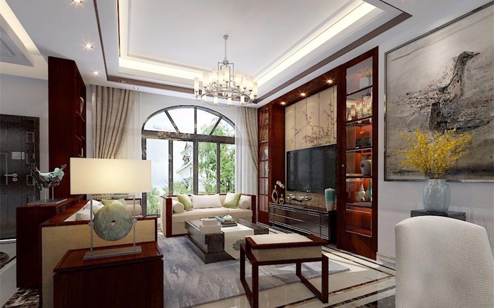 3室1卫2厅97平米新中式风格