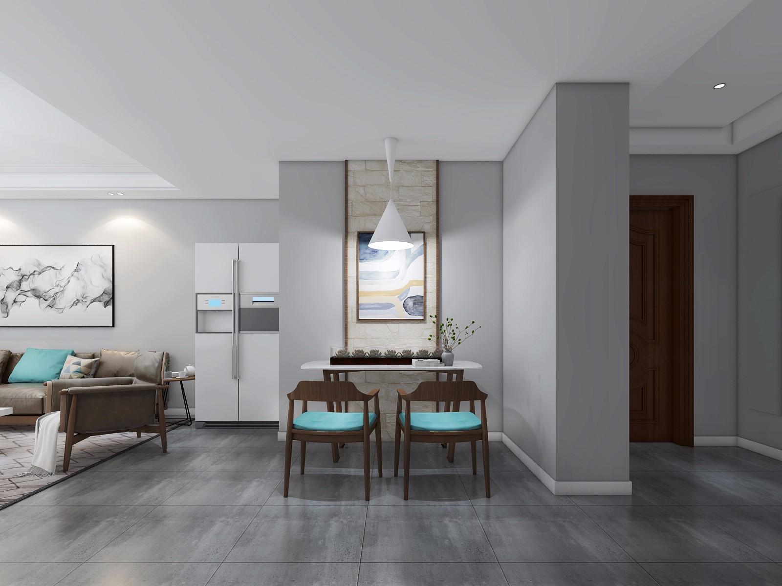 200平美式三居室装修效果图