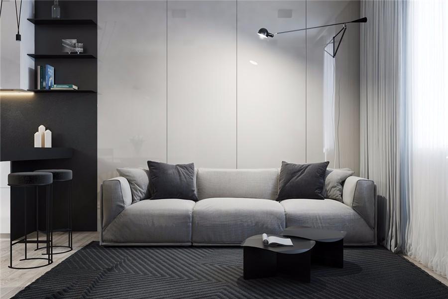 2室1卫1厅160平米现代简约风格