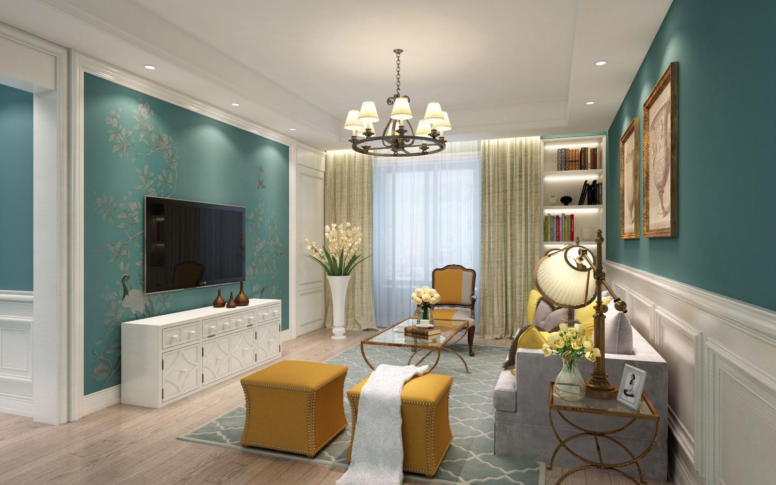 2室1卫2厅128平米简欧风格