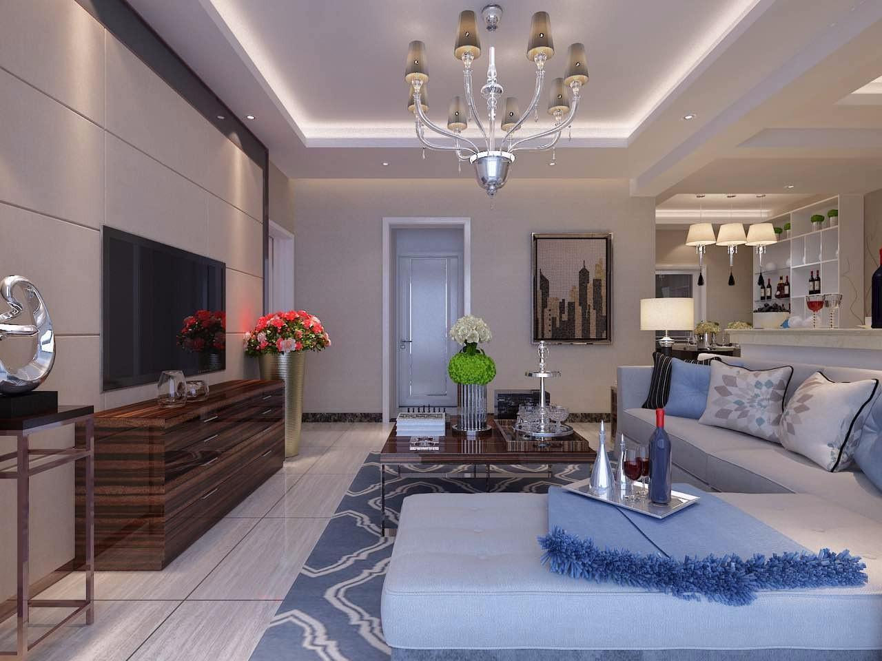 3室2卫1厅110平米现代简约风格