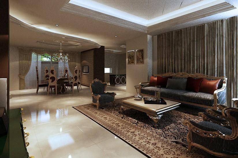 欧式风格495平米别墅室内装修效果图