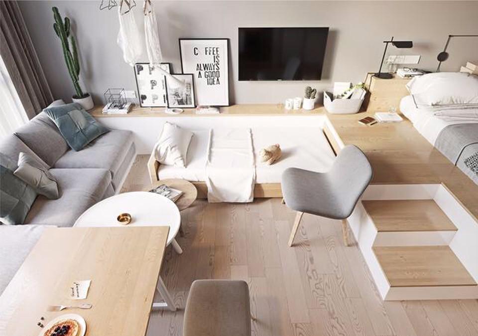 現代風格38平米小戶型室內裝修效果圖