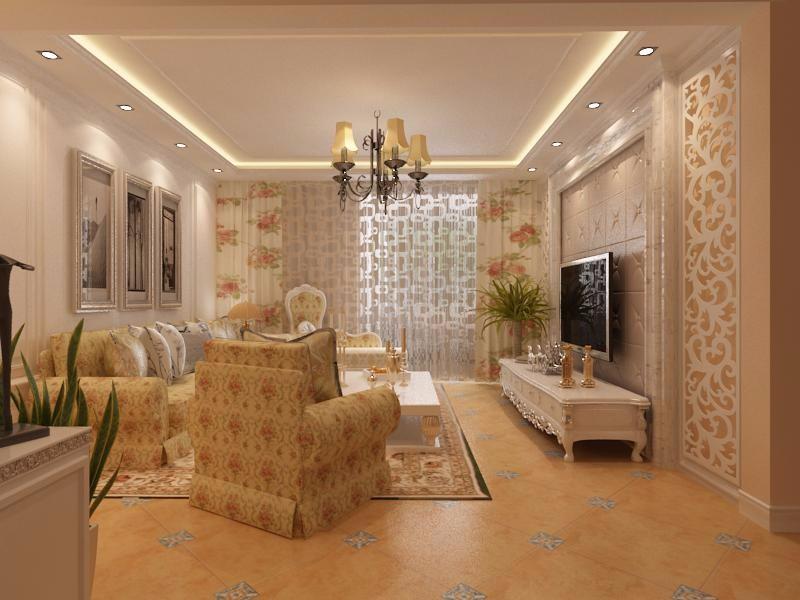 3室1卫1厅109平米美式风格