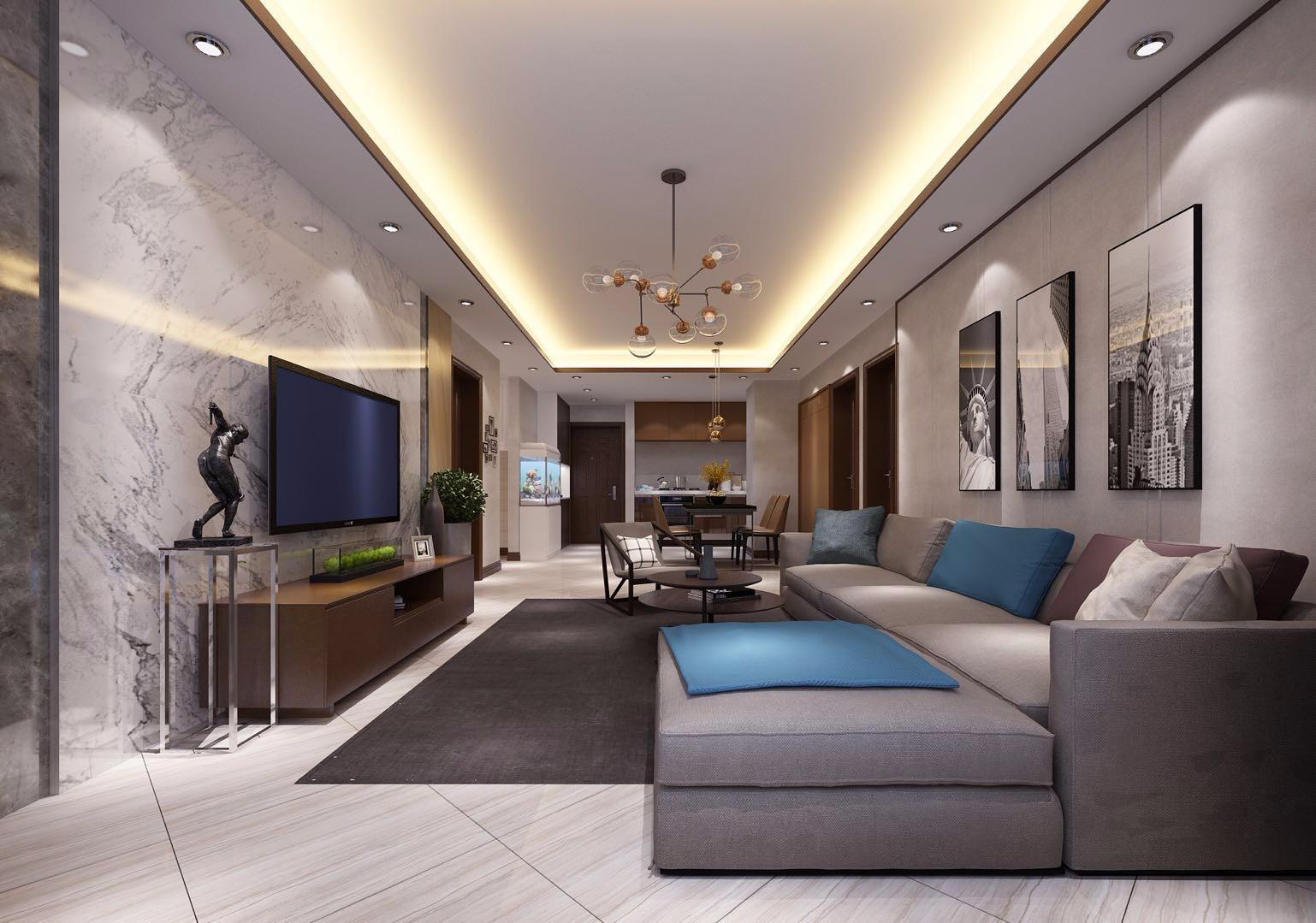 3室1卫2厅128平米现代风格