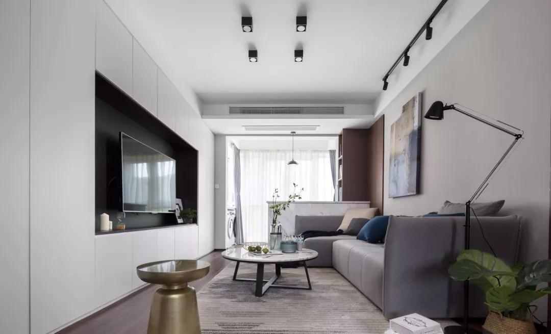 现代简约风格78平米两室两厅新房装修效果图