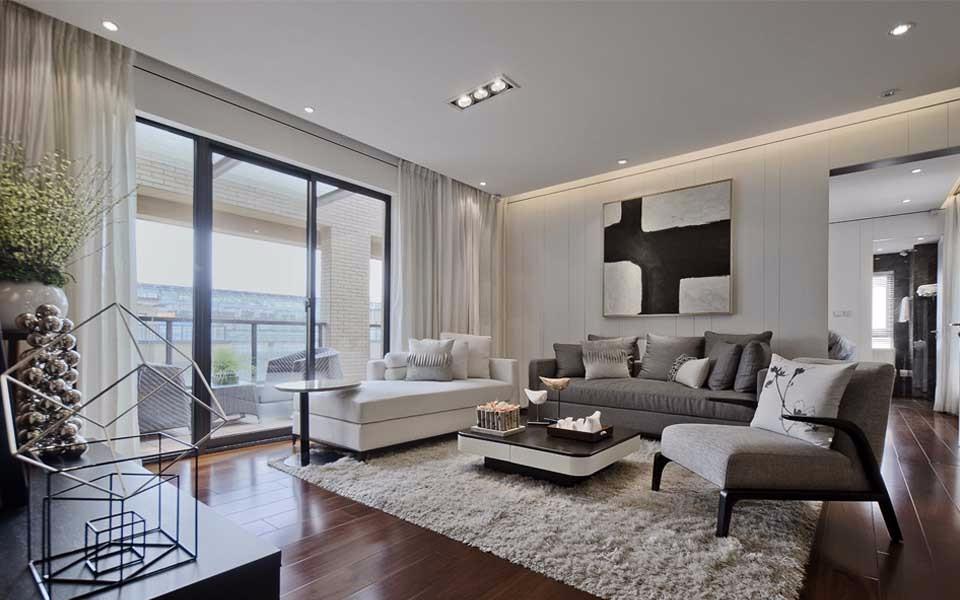 120平后现代风格三居室装修效果图