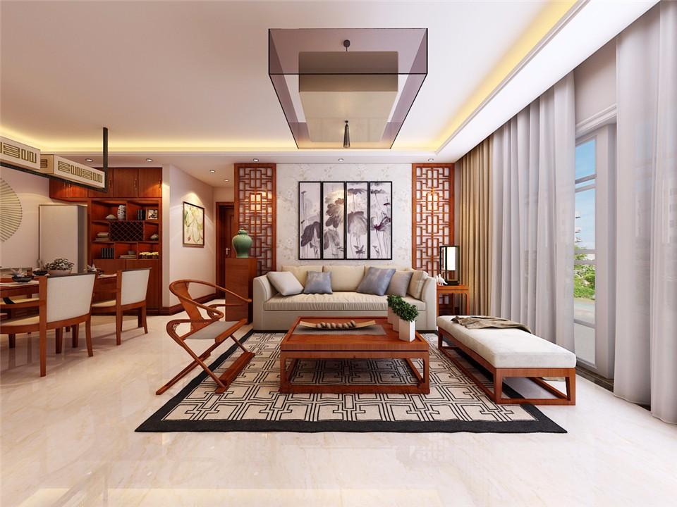 3室2卫2厅110平米新中式风格