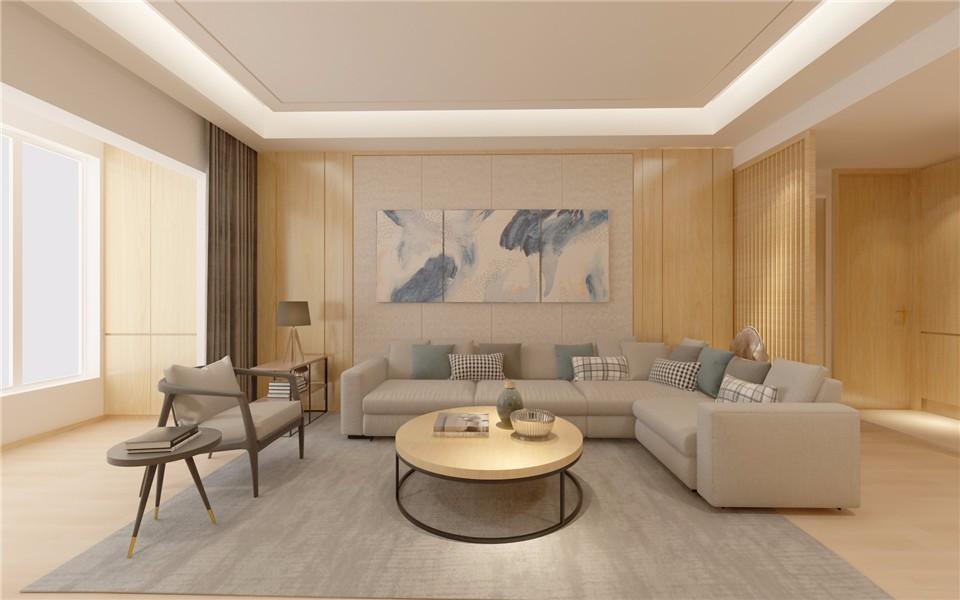 170平简约风格两居室装修效果图