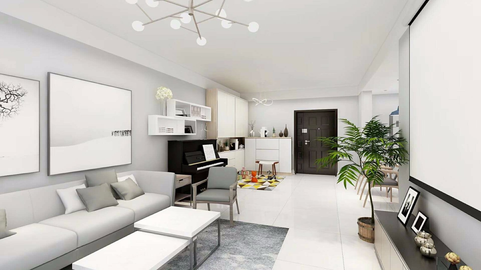 3室2卫2厅126平米现代简约风格