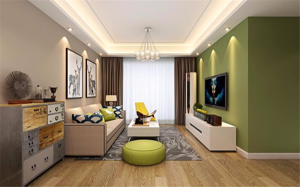 3室1卫2厅95平米现代简约风格